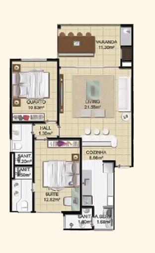 planta-baixa-dois-quartos